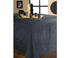 Mantel efecto seda negro Oval 180 x 240 cm