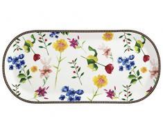 Maxwell & Williams Teas & Cs Bandeja rectangular para servir con diseño de contessa, Porcelana, Blanco