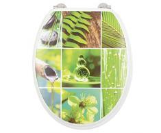 Gelco Design 708801Â Bamboo Asiento para Inodoro Verde 45Â x 37Â x 6Â cm