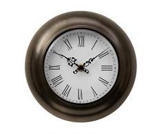 Premier Housewares - Reloj de pared (20 x 20 x 5 cm), color bronce