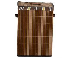 Kesper 19571 - Cesto rectangular para la colada (bambú, 42 x 32 x 60 cm)