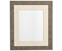 Frames by Post 30 x 40 cm tamaño Mediano de Profundidad de Vetas de Marco de Fotos Soporte de móvil para 12 x 25,4 cm para Fotos de, marrón