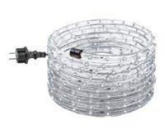 GEV Juego de manguera de luz LED 10574, 9 m 230 V, steckerfertig, para interior y exterior, 13 mm de diámetro, Fiesta, Navidad, bombilla decorativa, IP 44, plástico, blanco frío, 9000 X 1,3 X 1,3 cm