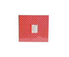 Youdoit Álbum de fotos 30 x 30 cm - rojo con puntos blancos