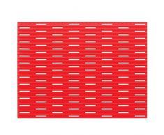 InterDesign Lineo - Tapete para fregadero, grande, color rojo