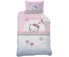 Hello Kitty 045284Kite Juego de Cama, algodón, Rosa, 100x 135cm
