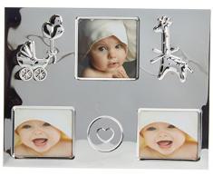 Mopec M230 - Marco Infantil para 3 Fotos con relieves de Coche,Jirafa y Corazon, Pack de 1 Unidad