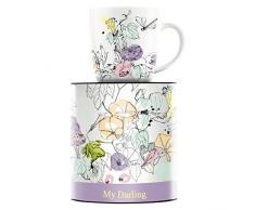 Ritzenhoff 1510180 My Darling Taza de Café, Porcelana, Carbón, 8.9 cm