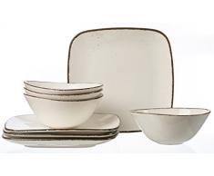 Ritzenhoff & Breker Casa - Plato, cerámica, Beige, 33 x 33 x 18 cm