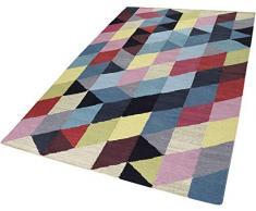 ESPRIT Rainbow Triangle Kelim Alfombra Moderna, algodón, Multicolor, 110 x 60 x 0.5 cm