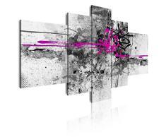 DekoArte 23 - Cuadro moderno abstracto, lienzo de 5 piezas, 180 x 85 cm, color fucsia