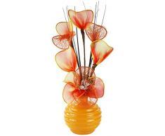 Flourish 791995-813 Mini Swirl - Par de jarrones con flores artificiales, 32 cm, Naranja