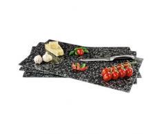 Xavax 00111517 tabla de cocina para cortar - Tabla de cortar (Vidrio templado, Negro)