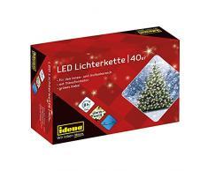 Idena 8325056 - Guirnalda de luces LED para exterior (40 bombillas LED, luz blanca cálida, 12 m)