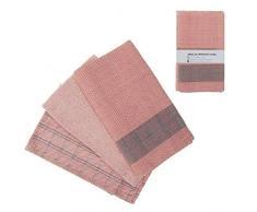 DCASA Juego 3 Referencia DC Paños y Toallas de Cocina Textiles del hogar Unisex Adulto, Rosa, 50x50x15 cm