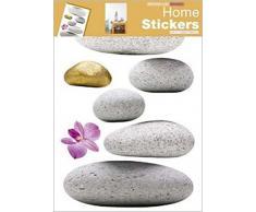 1art1 39985 - Pegatinas para pared con diseño de piedras zen (70 x 50 cm)
