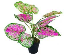 Geko - Planta Artificial de dieffenbachia (51 cm), Color Verde, Rosa, Talla pequeña