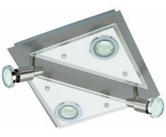 Briloner Leuchten 3529-042 - Lámpara de techo con 4 luces LED GU10, níquel mate