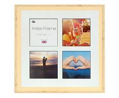 Inov8 16 x 40,64 cm Insta-Frame Austen Envejecido Marco para Instagram 4/de Estampado a Cuadros de Fotos con paspartú Blanco y Negro con Borde, 2 Unidades, Crema