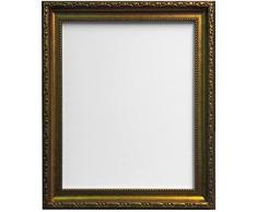 MARCOS POR POSTE Marco de fotos Shabby Chic, vidrio plástico, dorado, 50 x 70 cm