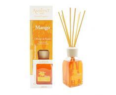 Ambientair Classic. Difusor de varillas perfumadas. Ambientador Mikado aroma Mango. Difusor 240 ml con palitos de ratán. Ambientador para Hogar sin alcohol.