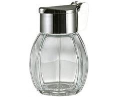 Stoha Salero o Pimientero, Envase para la Sal o Pimienta, Envase de Vidrio con Tapa de Acero Inoxidable, 34ml, 55260