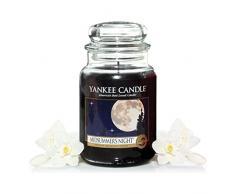 Yankee Candle 115174E - Midsummer Night Vela con extracte de plantas naturales, negro, 632 g