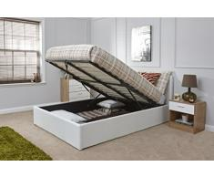 FurnitureDepot1 Istanbul - Cama otomana de Piel sintética (1,52 m), Color Blanco