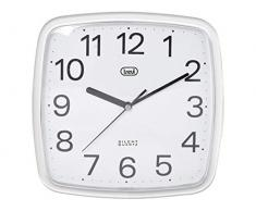 Trevi OM 3305 Mechanical wall clock Plaza Color blanco - Reloj de pared (Color blanco, 240 mm, 240 mm)