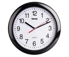 Hama PP-250 - Reloj de pared, color negro