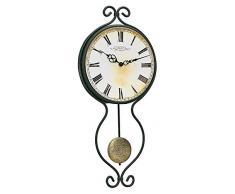 Hermle 70800-002200 - Reloj de Pared de Hierro Fundido con Pndulo de Aspecto Clsico