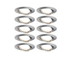 Paulmann EBL 93400 Base LED - Foco empotrable redondo (máx. Foco empotrable (10 W), color blanco mate