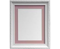 Frames by Post Marco de Fotos, Estilo Shabby Chic, plástico, Blanco, 8 x 8 Image Size 5 x 5 Inches