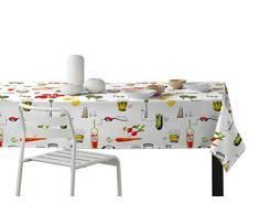 Martina Home Vino Mantel Resinado Diseño Moderno, Tela, Multicolor, 140 x 250 cm