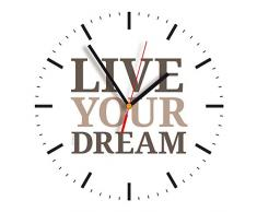 Contento 866258 reloj de pared, 28 x 28 cm, Dream