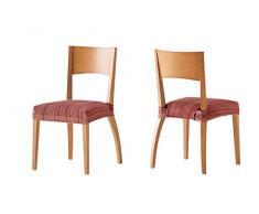 Pack de 2 Fundas de Asiento para silla modelo MEJICO, color BURDEOS, medida 40-50 cm ancho.