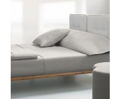 Atrivm Lifting Leaves - Juego de sábanas, 3 piezas, para cama de 180 cm, color crema