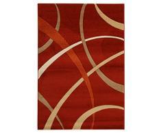 ABC Tappeti Alfombra Terra Rojo/Beige 120 x 170 cm