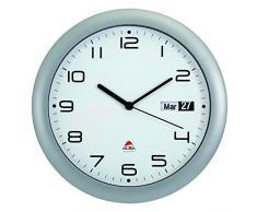 Alba HORDAY2 FR - Reloj de pared con fecha (silencioso, 30 x 5,5 x 30 cm)