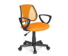 hjh OFFICE Kiddy CD Silla de Oficina Infantil Naranja (Orange) 40x53x92 cm