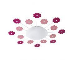 EGLO VIKI 1 iluminación de techo Rosa E27 60 W - Lámpara (Rosa, Habitación de los niños, Alrededor, Acero, IP20, I)