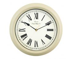 Acctim 26702 Redbourn Reloj de pared, color crema