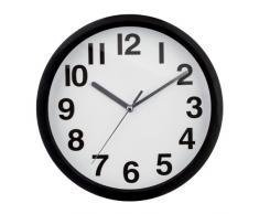 Premier Housewares Reloj de pared, 2200659, negro, 22 cm