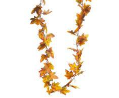 HEITMANN DECO - Guirnalda eléctrica con Hojas de Arce - Guirnalda Decorativa de otoño con 20 Leds - a Pilas; para Uso en Interiores