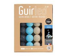 Guirnalda luminosa Bolas de algodón LED USB - Cargador USB dual 2A incluido - 3 intensidades - 24 bolas - Avatar