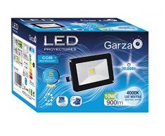 Garza Foco proyector cob LED exterior E27, 10 W, Negro, 13 x 9 x 6.5 cm
