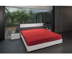 BSensible - Sábana Bajera Protectora de Tencel, Impermeable y Transpirable 140 x 200 Rojo