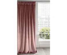 Eurofirany - Cortina Opaca de Terciopelo Rosa Oscuro, Suave Cinta fruncidora, Elegante, Glamour, Dormitorio, salón, Rosa Oscuro, 140 x 270 cm