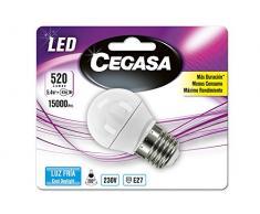 Cegasa Bombillas LED con Luz Fría 5000K E27, 5.4 W, Blanco, 78x45x45 cm