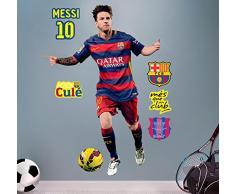 FCB FC Barcelona Messi - Vinilo decorativo oficial fútbol, 120 x 82 cm